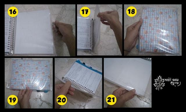 DIY: Cover Binder dari Kertas Kado