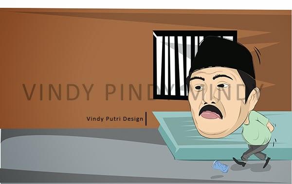 Karikatur Pejabat Masuk Sel