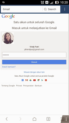 Login akun blogger.