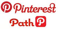 Logo Path dan Pinterest yang mirip membuat terkecoh.