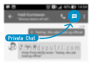 Menu Private Chat BBM v2.9.0.44
