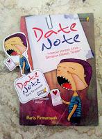 Tokoh dalam novel Date Note karya Haris Firmansyah yang ingin kupacari.