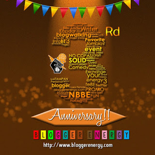 Happy Birthday Blogger Energy yang ke-3!