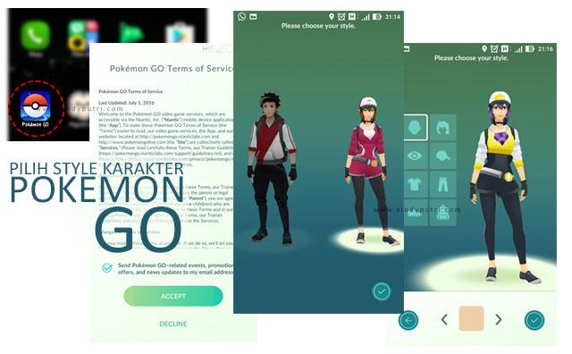 Pilih Style Karakter Pokemon Go