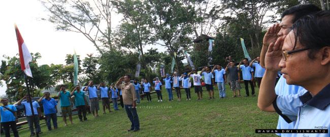 Upacara Camping & Outbond Taman Botani Sukorambi Jember