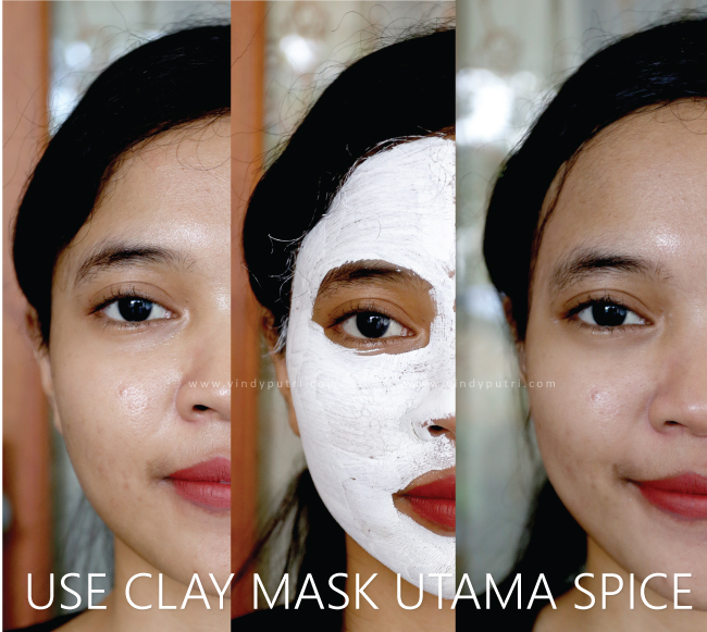 Use Clay Face & Body Mask Utama Spice