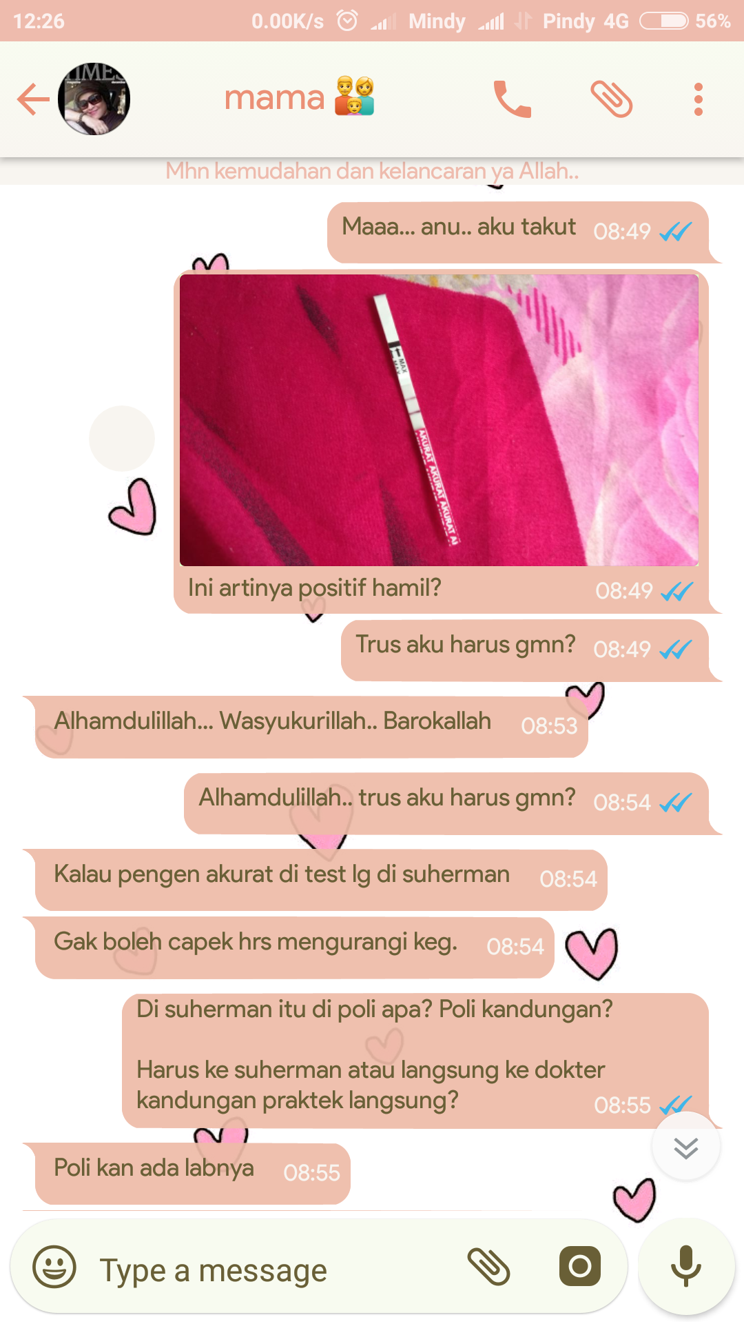 Isi Chat Mama