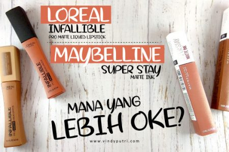Loreal Infallible Pro Matte Liquid Lipstick vs Maybelline Super Stay Matte Ink